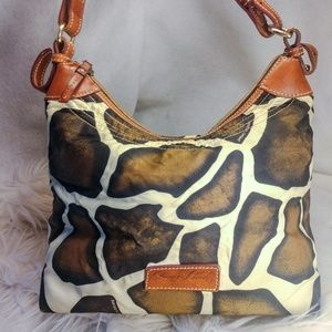 Authentic giraffe Dooney & Bourke purse handbag